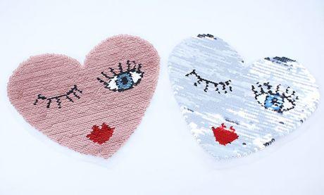 XXL WENDEPAILETTEN PATCH -  FLIRTY HEART PINK