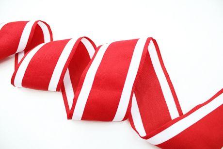 XXL RETRO STRIPES CUFFS - red & white 7cm