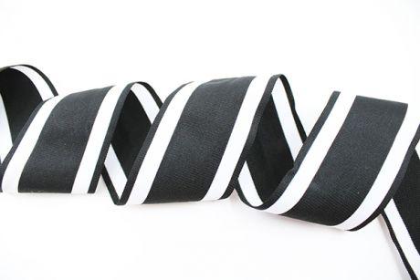 XXL RETRO STRIPES CUFFS - black & white 7cm