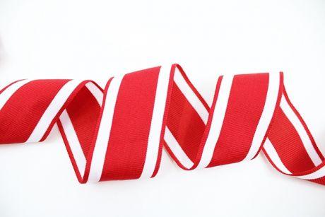 XL RETRO STRIPES CUFFS - rot & white 5cm