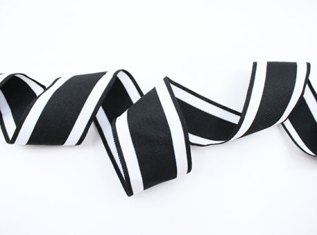 XL RETRO STRIPES CUFFS - black & white 5cm
