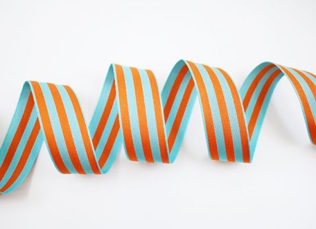 RETROSTRIPES - THICKIES - auqamarine.orange  2x