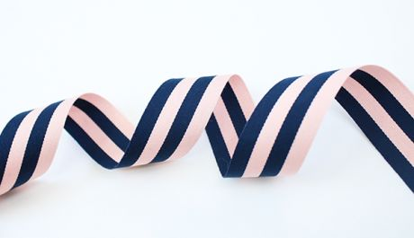 RIPSBAND GESTREIFT - THICKIES - Pink & navyblau