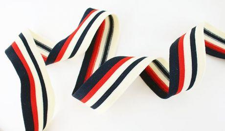 RETRO STRIPES CUFFS- vintagebeige.navy.rot.navy 3.5cm