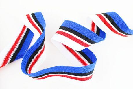 RETROSTRIPES CUFFS- blue.black.red.white 3cm