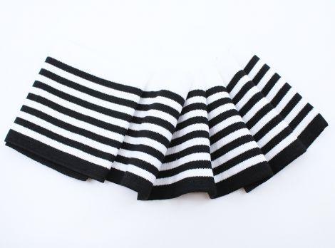 DOUBLE CUFFS EDEL - LOTTA STRIPES BLACK&WHITE