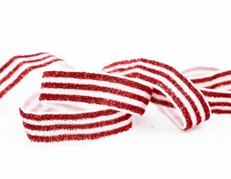 GLITTER GLAM STRIPES! - RED & White