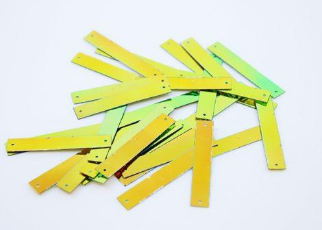 LUXPAILLETTEN - M Stripes hologram green