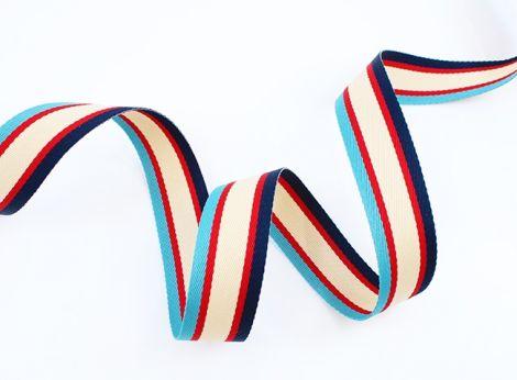 GATSBY STRIPES - dunkelblau . rot - beige . blau