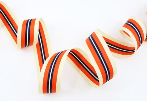 GATSBY STRIPES - beige . orange . dunkelblau