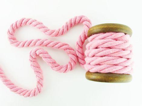 Baumwollkordel XL 12 mm gedreht - PINK