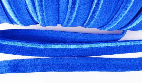 Paspelband elastisch 10 mm doppelseitig (matt & glänzend) - ELECTRIC BLUE
