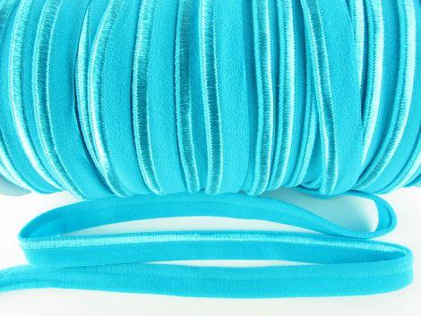 Paspelband elastisch 10 mm doppelseitig (matt & glänzend) -  TÜRKIS