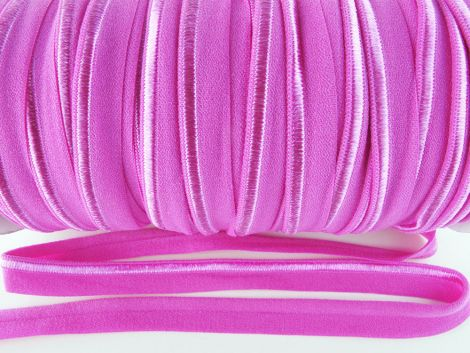 Paspelband elastisch 10 mm doppelseitig (matt & glänzend) -  MAGENTA
