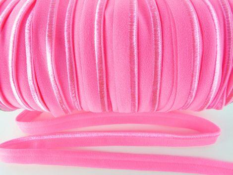 Paspelband elastisch 10 mm doppelseitig (matt & glänzend) - HAVANA PINK