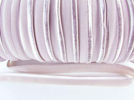 Paspelband elastisch 10 mm doppelseitig (matt & glänzend) - TAUPE