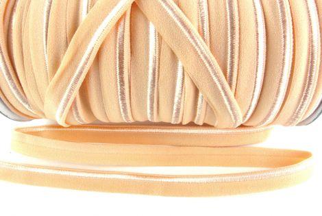 Paspelband elastisch 10 mm doppelseitig (matt & glänzend) - PEACH
