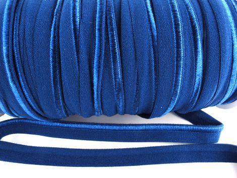 Paspelband elastisch 10 mm doppelseitig (matt & glänzend) - NAVY BLAU