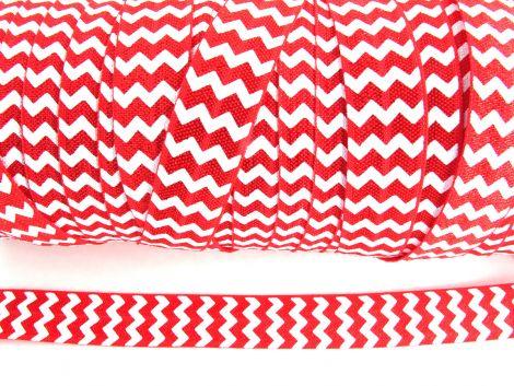 3 m Falzgummi - Weihnachten Edition - Chevron rot & weiß