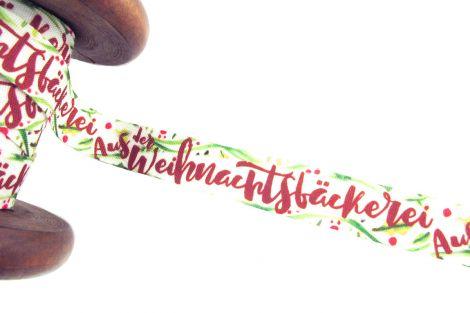 3m Baumwollband - Weihnachten - Aus der Weihnachtsbäckerei!