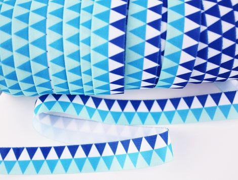 Falzgummiband MATT - Triangles - BLUES