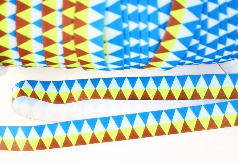 Falzgummiband MATT - Triangles - BLUES & BRAUN