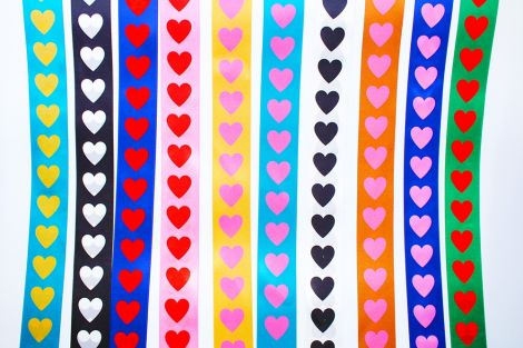 SATINBAND 38MM -  LOADS OF LOVE - FARBWAHL