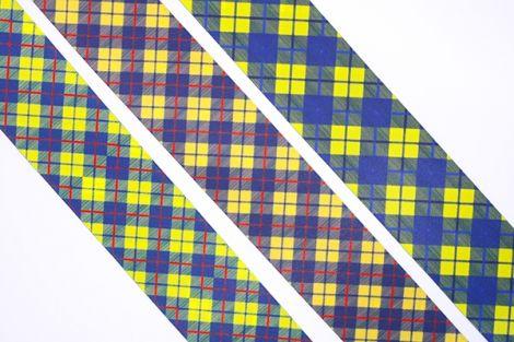 KARIERTES SATINBAND - OXFORD -Farbwahl