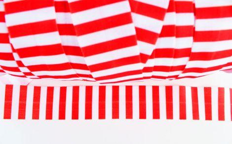 2m XXL Einfassband - STRIPES - Rot & Weiß