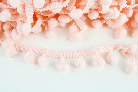 POMPONBORTE - Unifarbe - light Peach