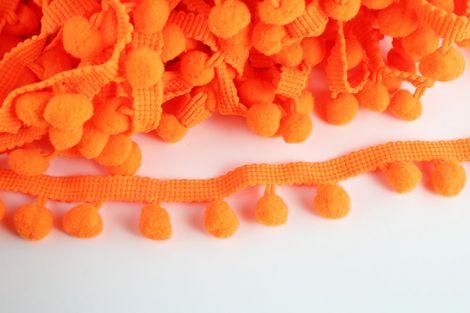 POMPONBORTE - Unifarbe - Orange (neon)