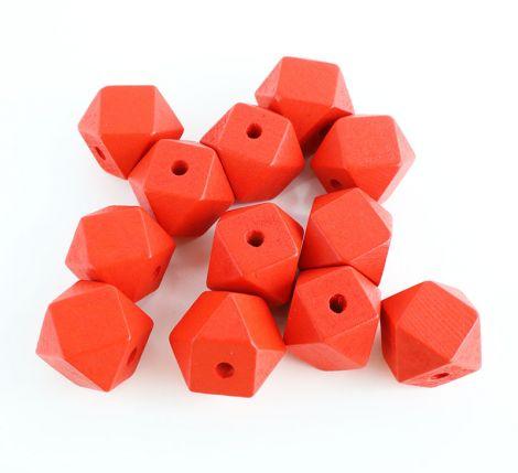 Holzperlen - Geometrix - Rot