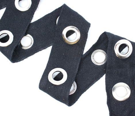 ÖSENZ - ÖSEN XL silber & Baumwollband black