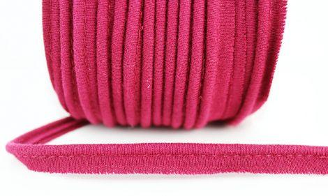 Jersey Paspelband elastisch 10 mm - Bordeaux