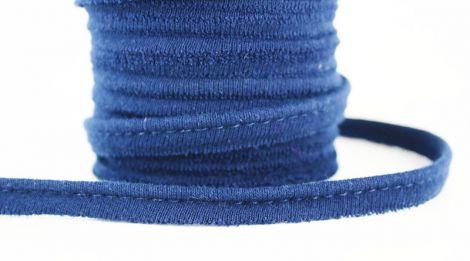 Jersey Paspelband elastisch 10 mm - Navyblau