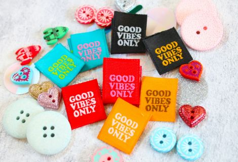 HANDMADE LABELS SET - GOOD VIBES ONLY