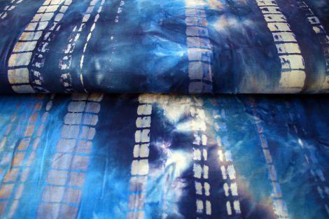LEINENSTOFFE - BATIK DEEP BLUE