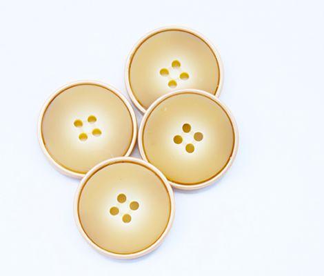 KNOPF METALLOPTIK - GOLD UND BEIGE 20mm