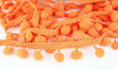 POMPONBORTE - Unifarbe - Orange