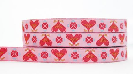 Folky Hearts Pink
