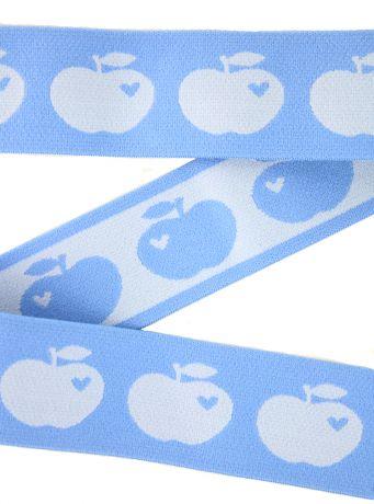 Breitegummiband - Äpfeln - TAUBENBLAU