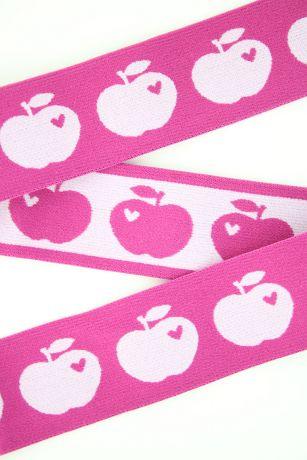 Breitegummiband - Äpfeln - PINK