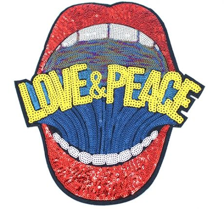 XXL GLAM Patches - LOVE AND PEACE ROT