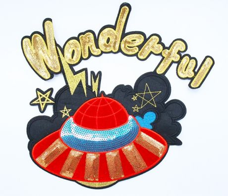 XXL EDEL PAILETTENPATCH -  WONDERFULFANCY UFO (SAMT)