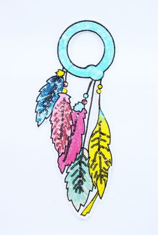 XXL GLAM Patches - FEATHERS S