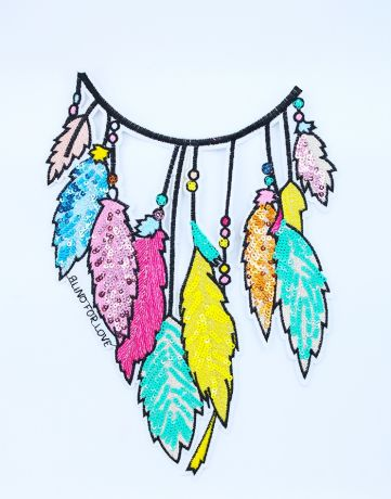 XXL GLAM Patches - FEATHERS M