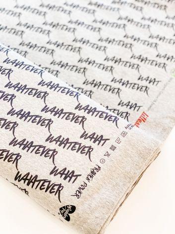 WHATEVER - WUNDERPOP! x LILLESTOFF BIO-Jersey (grün meliert)