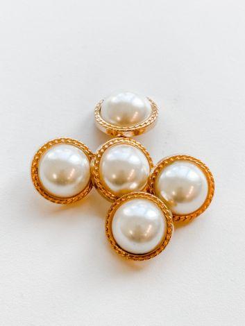 EEdel Knopf mit Perlen und schmale Kante
