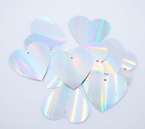 LUXPAILLETTEN - XL Heart Hologram 3.5cm