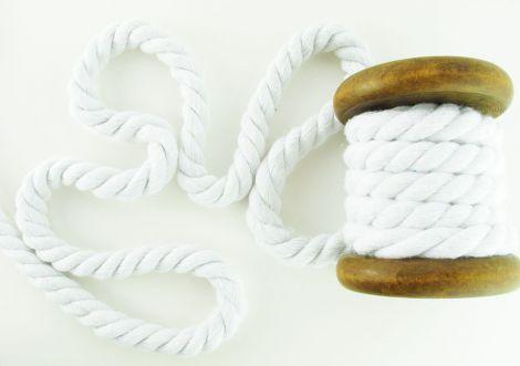 Baumwollkordel 12mm gedreht - Weiss